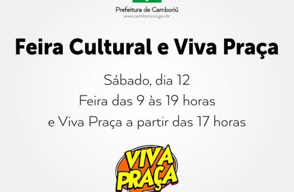 Sábado tem Feira Cultural e Viva Praça na Praça das Figueiras