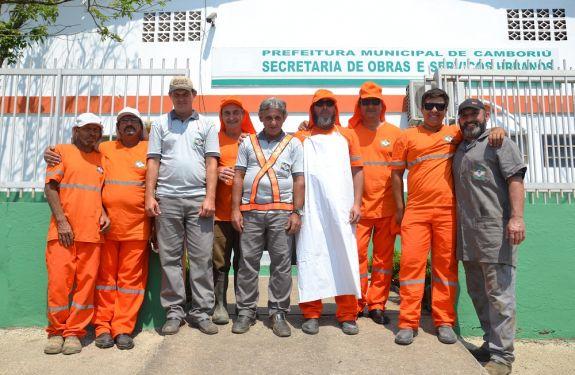 Secretaria de Obras de Camboriú recebe uniformes e novos EPIs