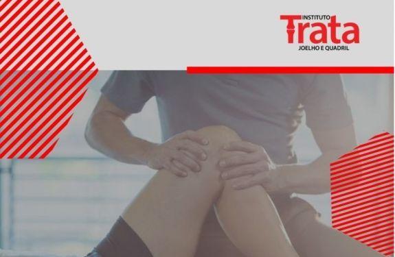 Tendinite: inchaço e limitação de movimento do joelho