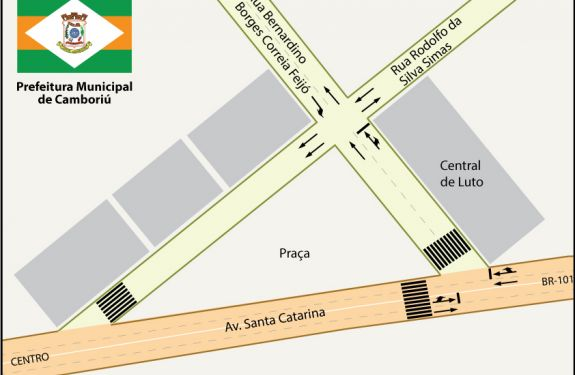 Trânsito tem alterações próximo à Central de Luto em Camboriú