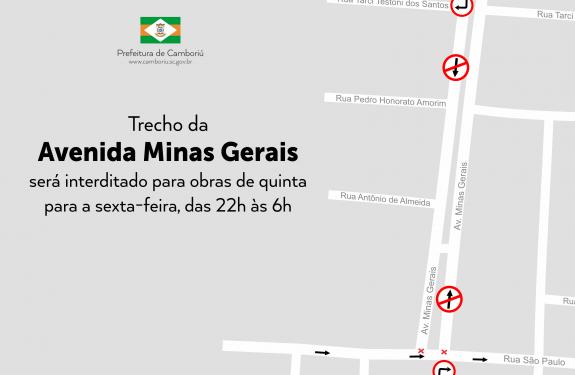 Trecho de avenida será interditado para obras em Camboriú