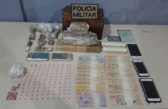 Três jovens são presos por tráfico no Bairro das Nações em BC