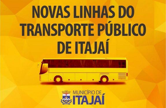 Veja aqui as novas linhas do transporte público de Itajaí