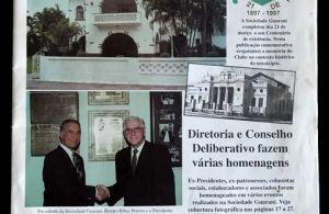 Imagem do jornal de comemoração aos 100 anos do clube.